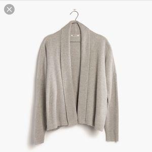 Madewell Horizontide Grey Knit Sweater Cardigan